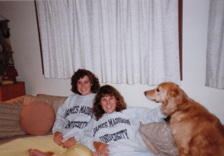 Michele, Cindy & Biscuit circa 1988